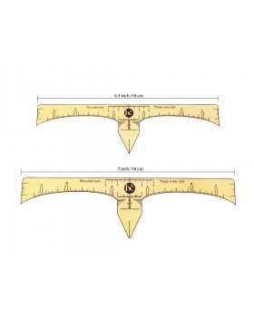 Eyebrow measurement sticky ruler tape 7inch