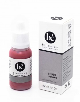 Biocutem Micro pigment ROSE RED bottle and box