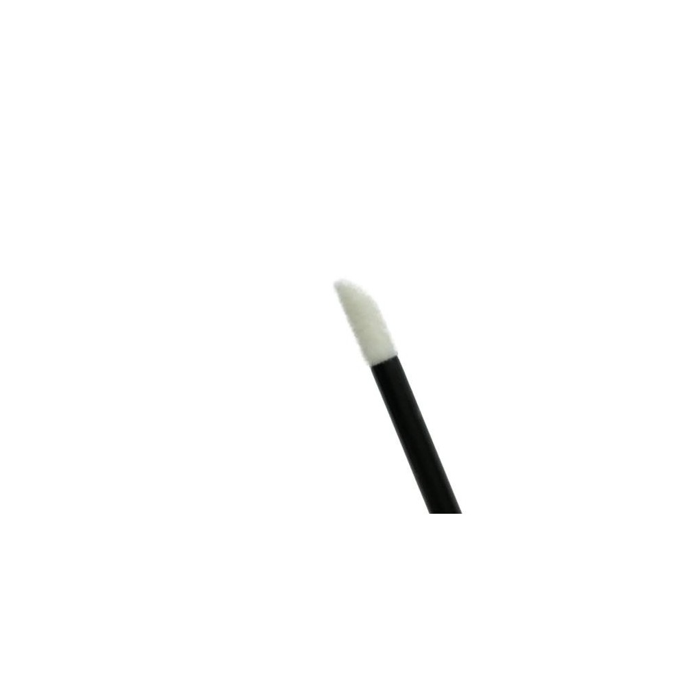 Black Disposable cosmetic Fiber-Brush Applicators